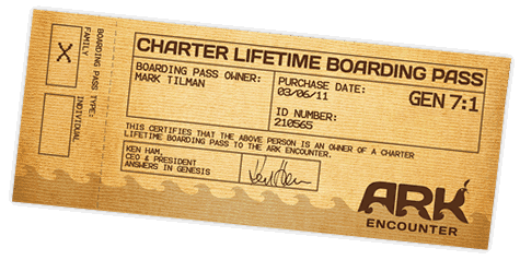 Ark Encmunter Charter Lifetime Boarding Pass sample