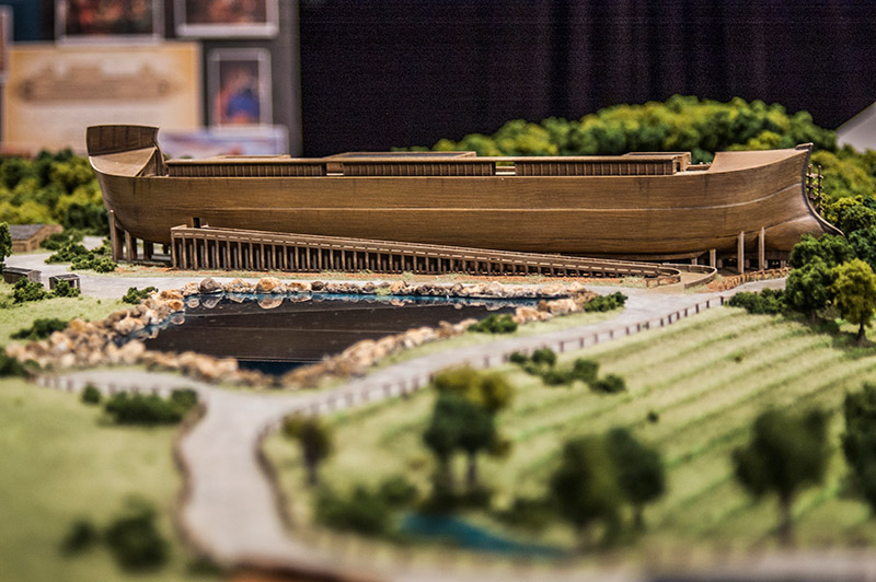Close-up Ark Encounter model