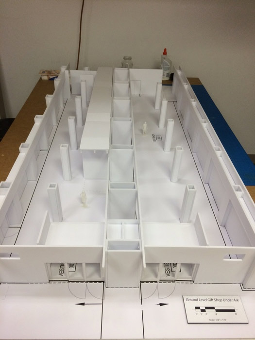 Constructing the Scale Model of the Gift Shop