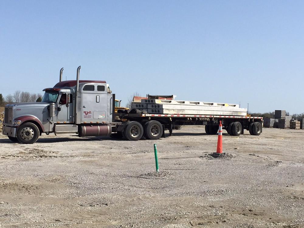 Delivery of precast concrete