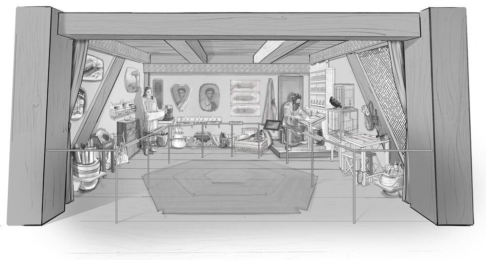 Sketch of Noah's Study