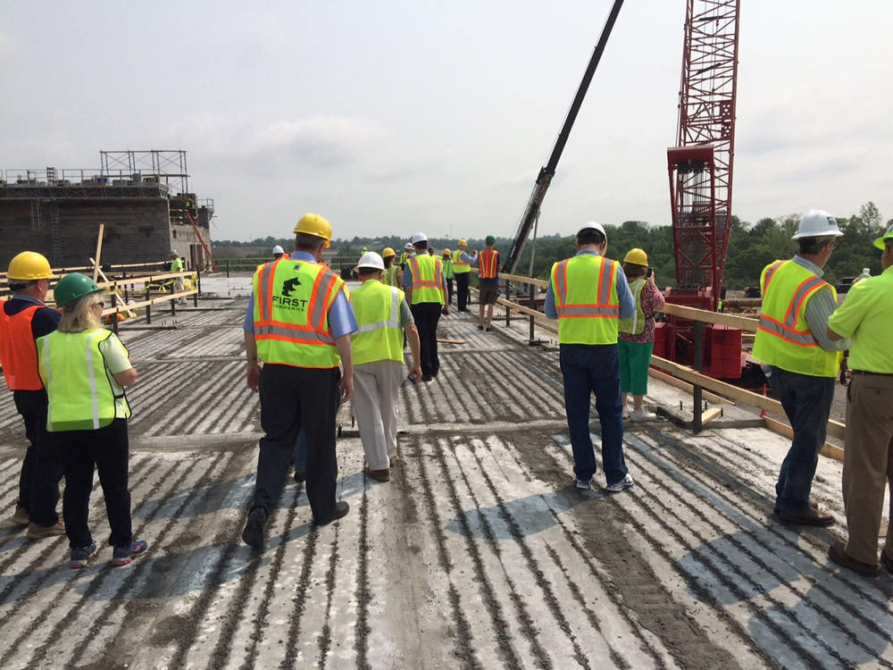 Board Members Visit the Ark Site