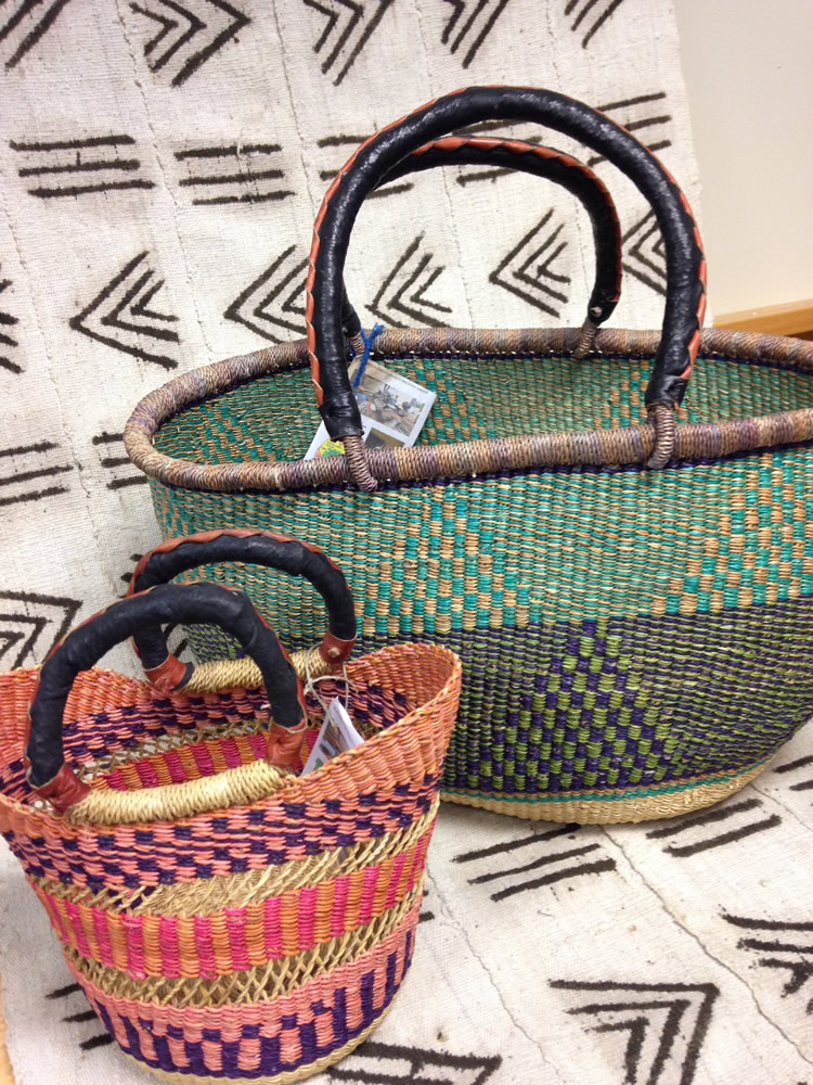 Beautiful baskets from Ghana