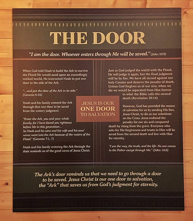Ark Door Sign