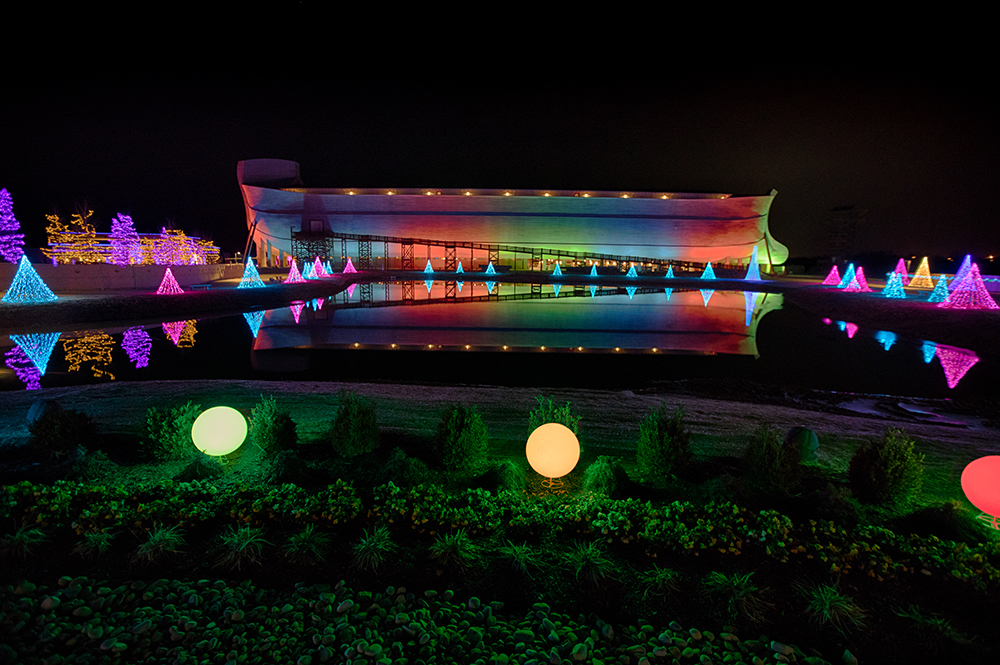 Ark Encounter with Christmas Lights