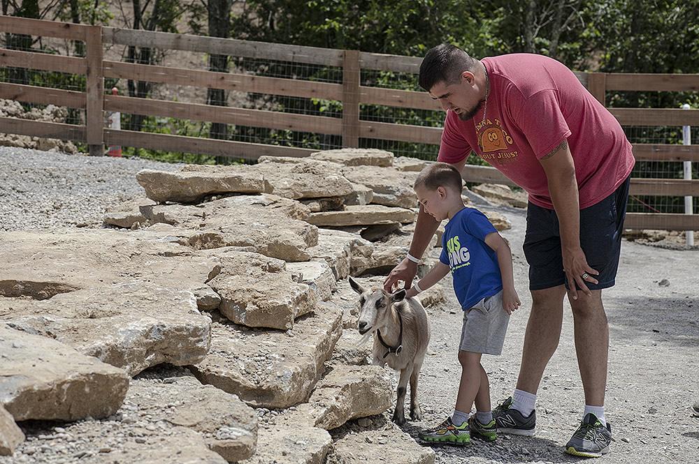 Family in Petting Zoo