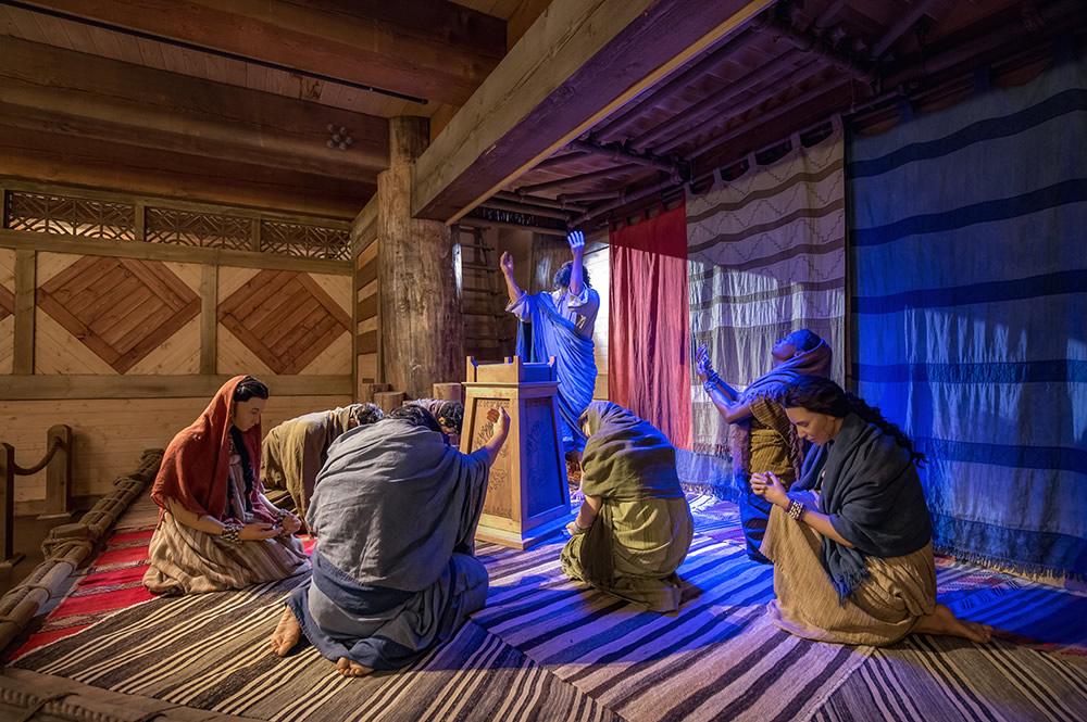Noah and His Family Praying at Ark Encounter