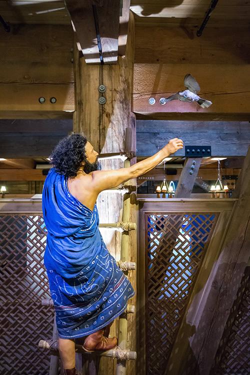 Noah Releasing a Dove at Ark Encounter