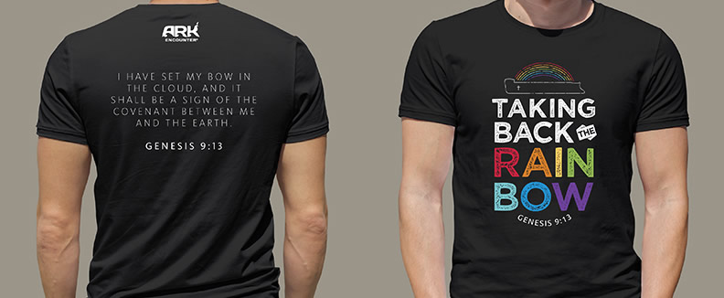 8c1969a44 With two eye-catching designs, in either black or charcoal, these trendy  shirts proclaim the true message of the rainbow. These are certain to be a  ...