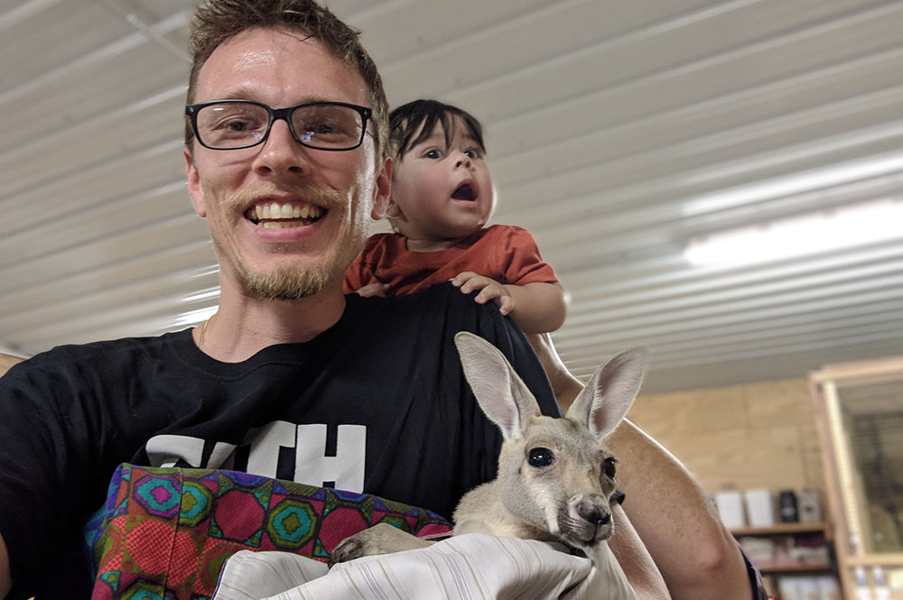 Jeremy with Baby Joey
