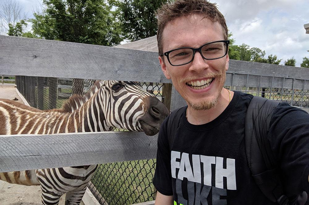 Jeremy with Zebra