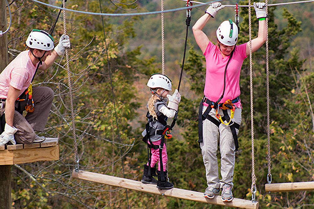 Family During the Zip Lines