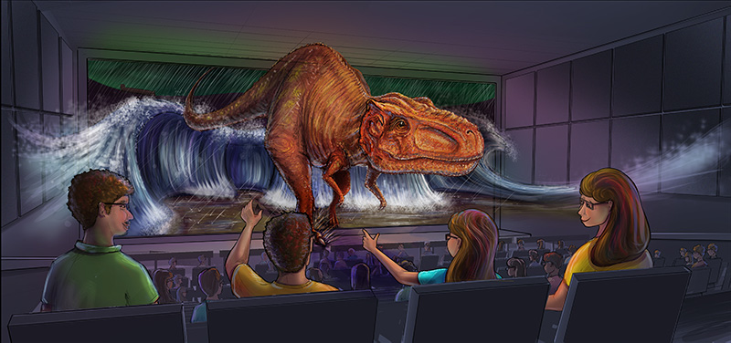 Special Effects Theater Upgrade Illustration