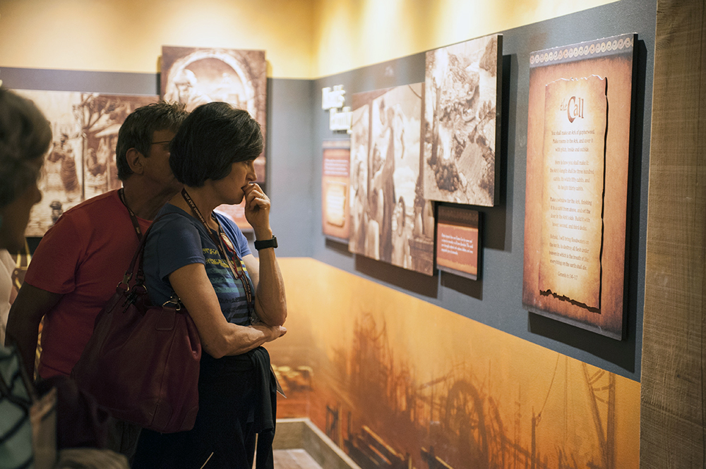Guests Reading Signs at the Ark Encounter