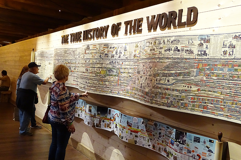 Guests Looking at the History Timeline