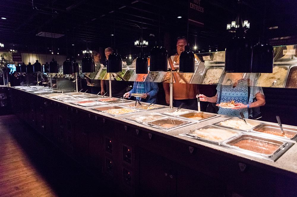 Guests Inside Emzara's Buffet
