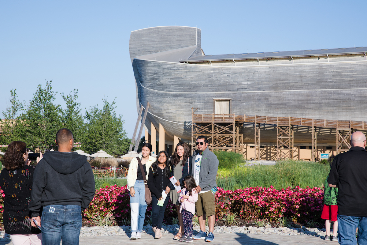 Guests in Front of Ark