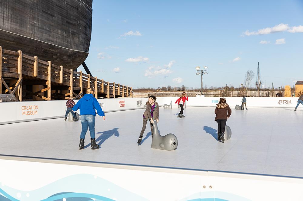 Skating on Glice® Rink