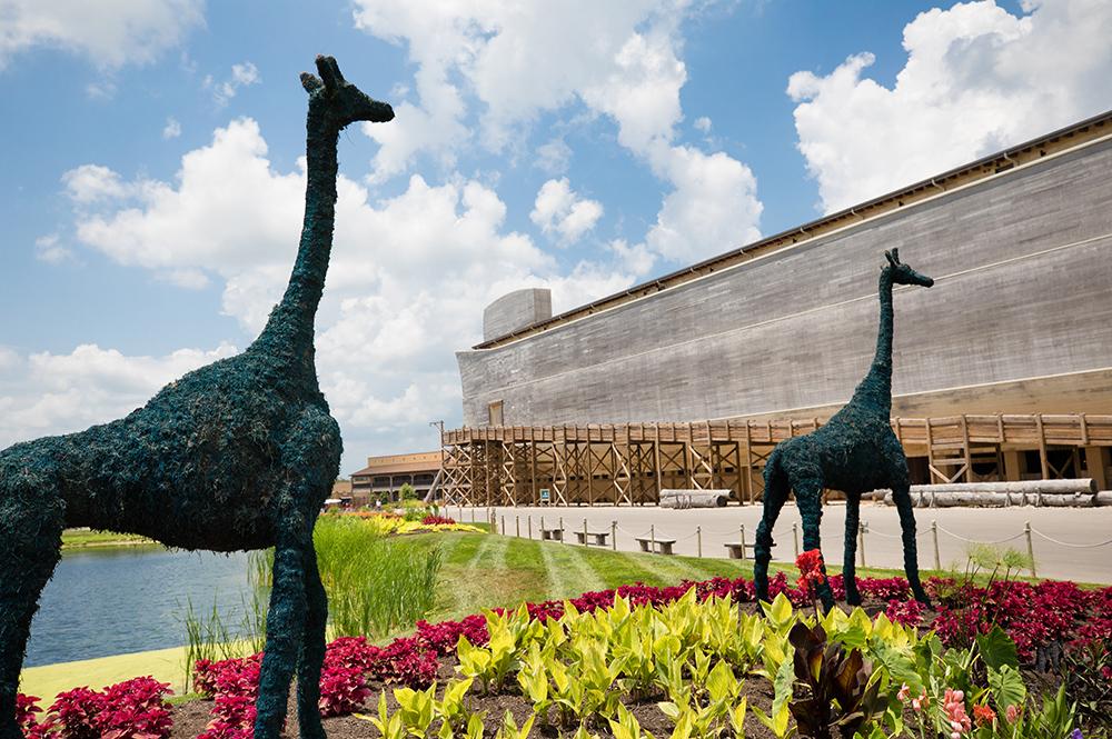 Ark Encounter with Giraffe Topiaries