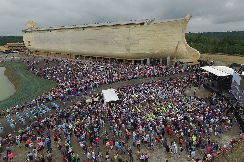 Ark Encounter Ribbon-Cutting Crowd