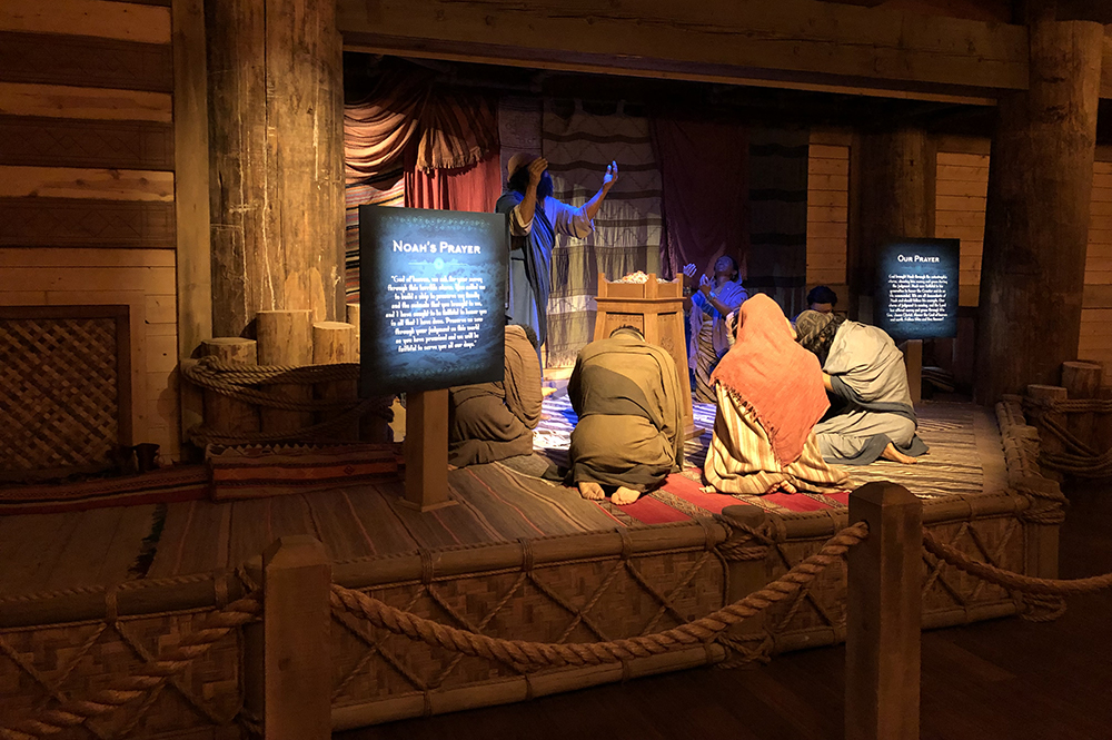 Noah Family Praying Exhibit