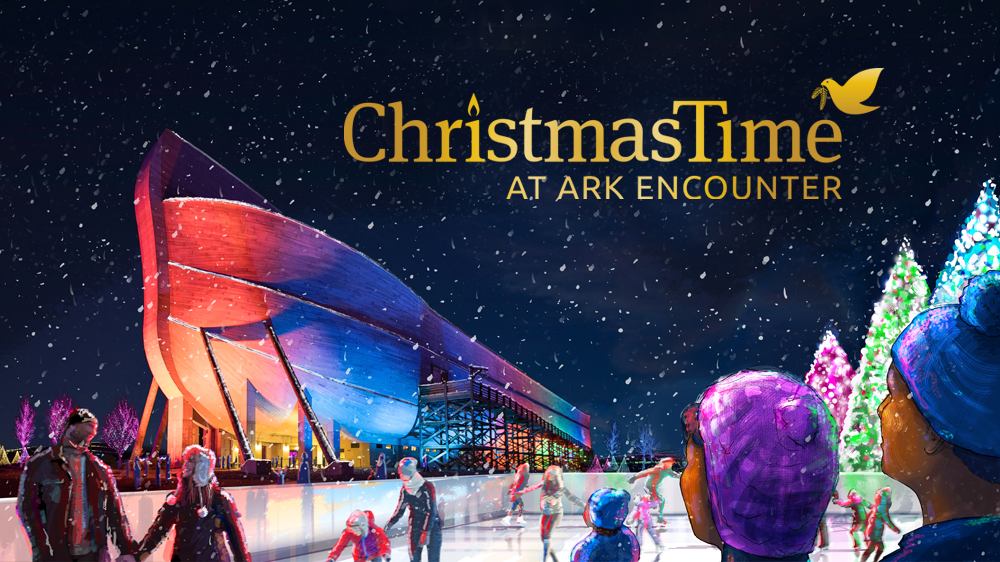 Ice skating rink at the Ark Encounter