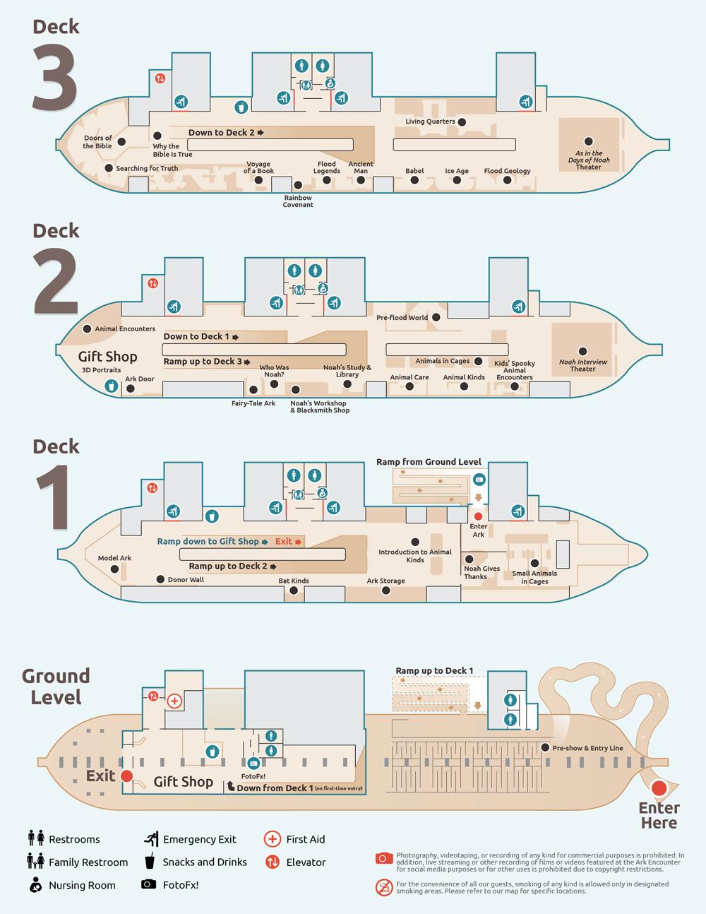 Ark Exhibit Map