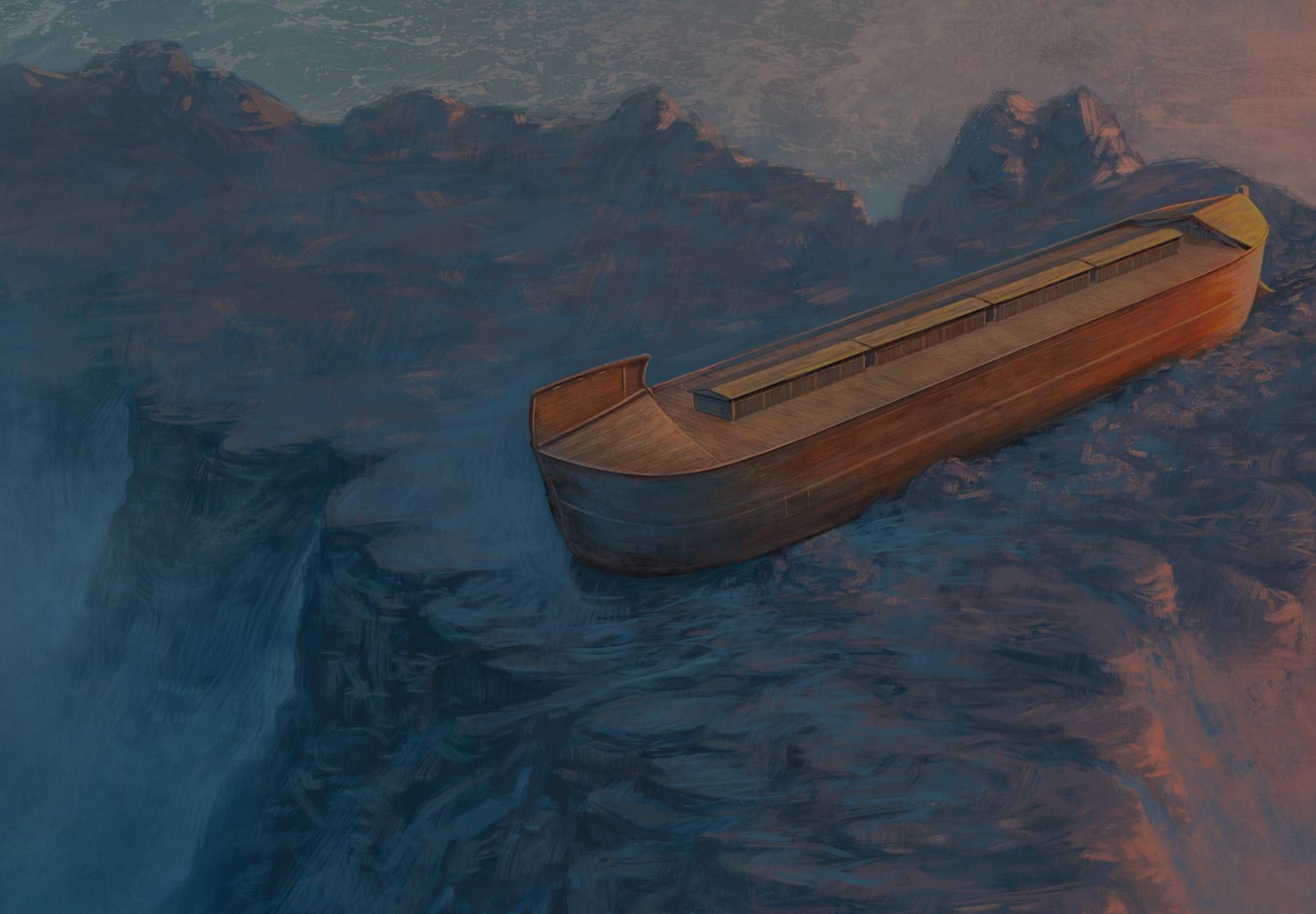 Flood Subsides Illustration