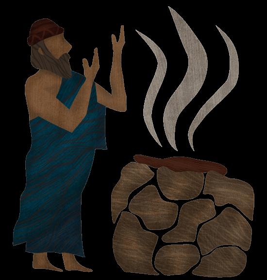Noah offering a sacrifice