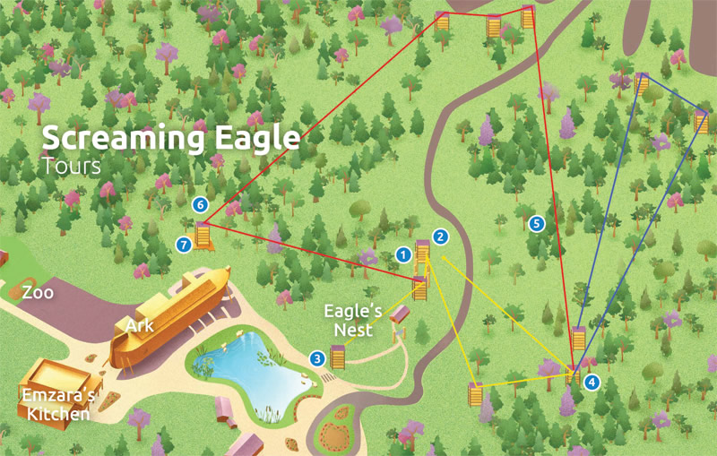 Screaming Eagle Course Map